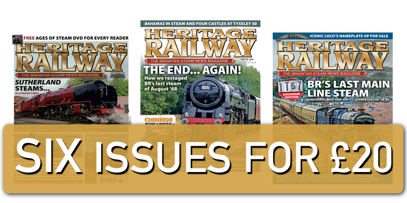 What better gift is there for rail enthusiasts than six issues of their favourite magazine? This exclusive offer means you save money, and have your ...