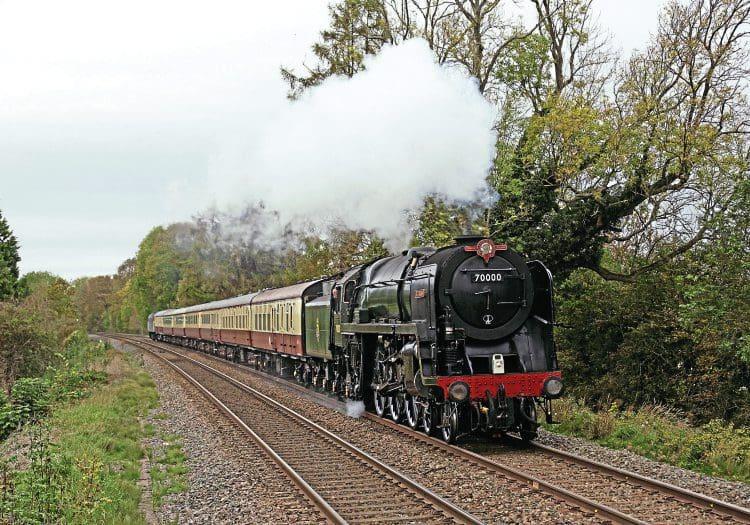 Britannia still in Crewe paint shop – Heritage Railway
