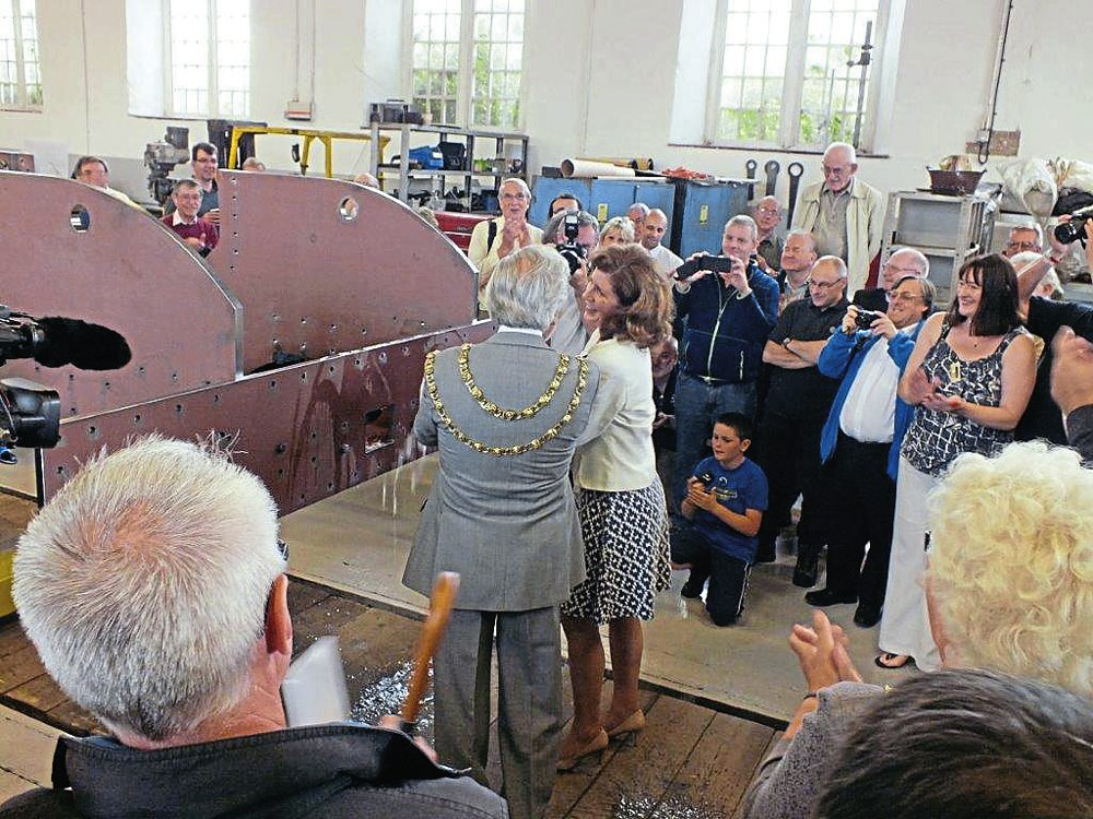 Five years ago, Jenny Chapman MP christens No. 2007 Prince of Wales.