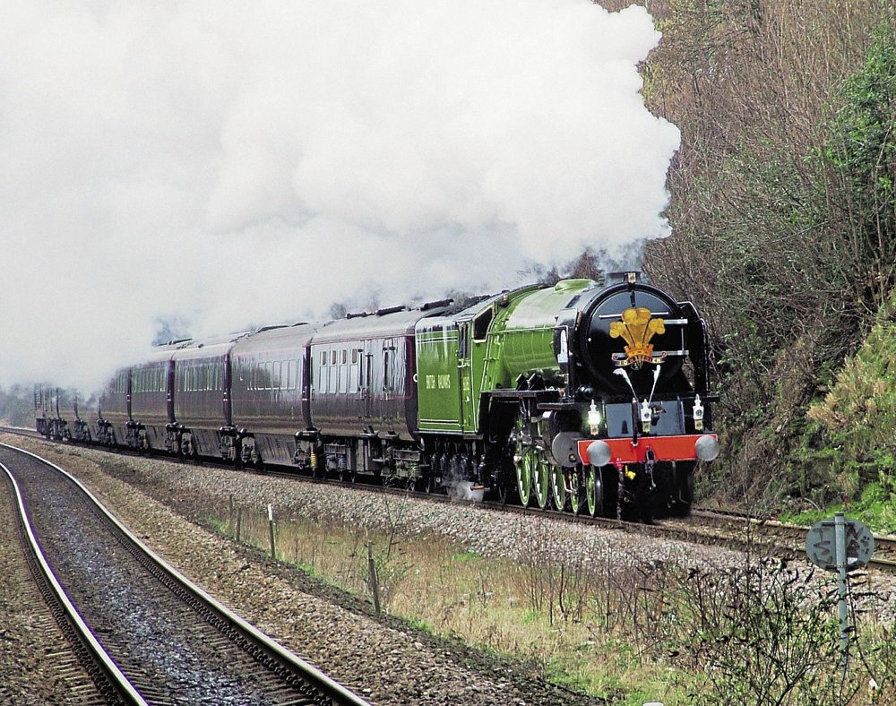 Another view of the 60163 Tornado steam locomotive.