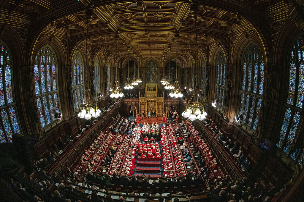 Scene at the Queen's Speech
