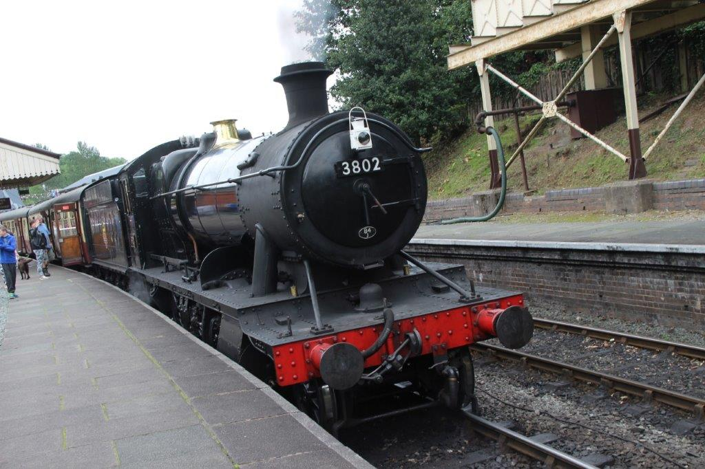 Llangollen Railway - GWR 2-8-0 No. 3802 is seen at Llangollen station. GARETH EVANS
