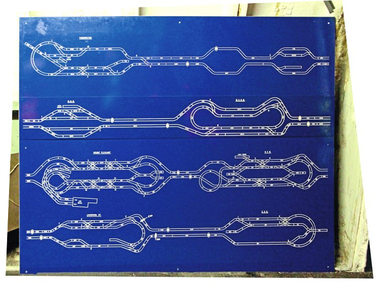 Mail Rail passenger train ride blueprints