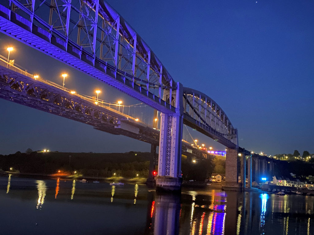 Royal Albert Bridge lit up in show of support for NHS