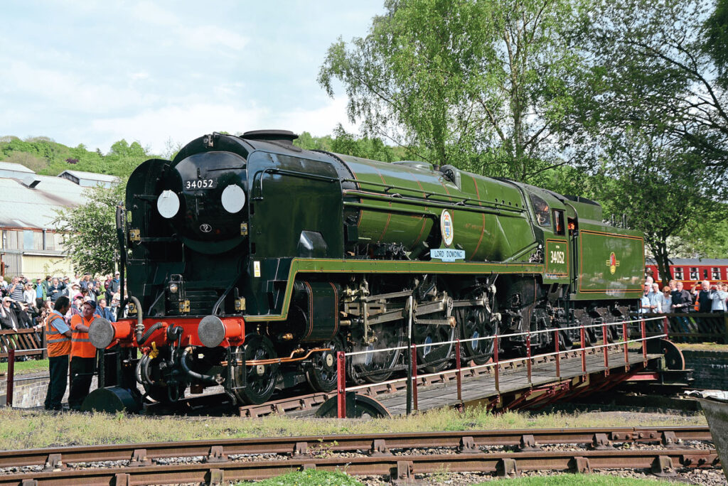 SR rebuilt West Country No. 34046 Braunton