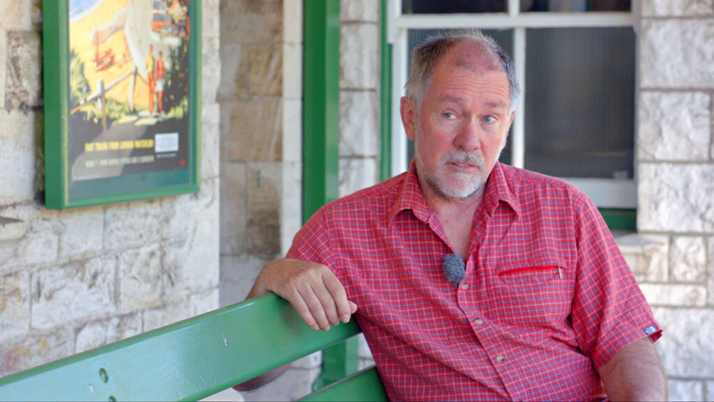 Swanage Railway Trust chairman Gavin Johns