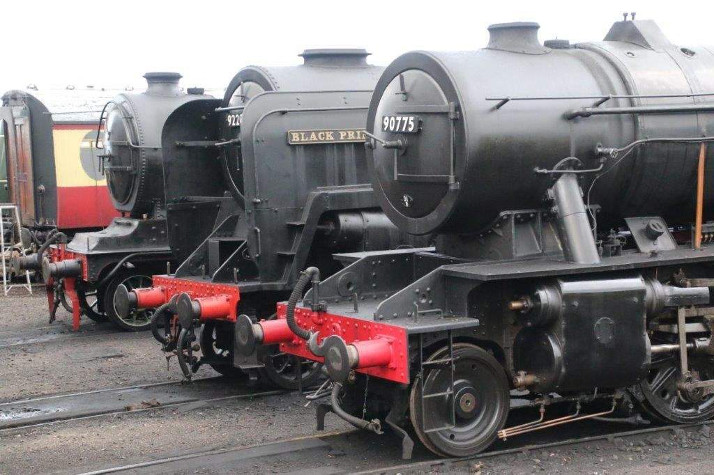 The North Norfolk Railway is among the lines returning to action in July. LNER B12 No. 8572, BR 9F No. 92203 Black Prince and WD 2-10-0 No. 90775 are seen outside Weybourne shed on September 28, 2019: GARETH EVANS