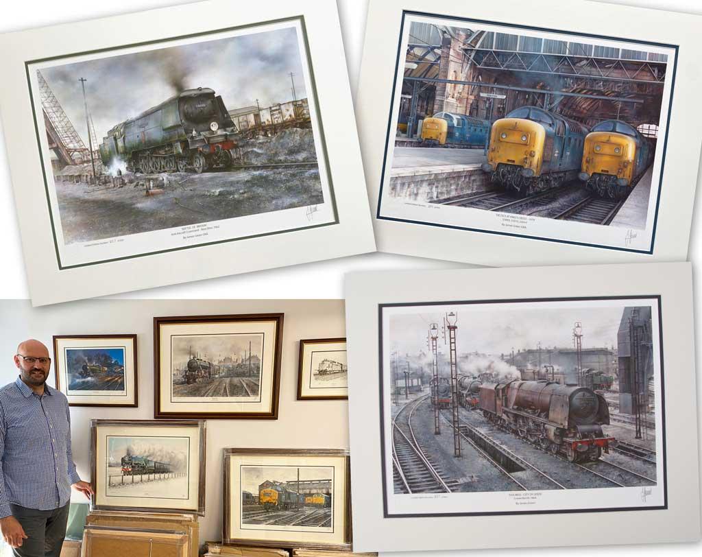James Green GRA railway prints