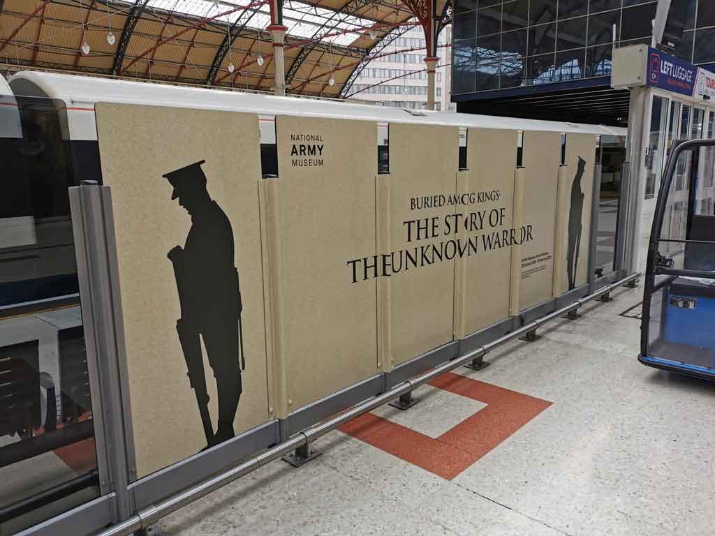 Unknown Warrior pop up at Victoria Station