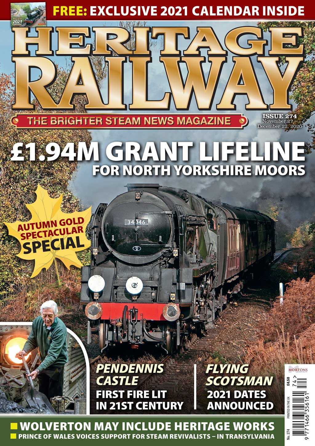 PREVIEW: Issue 274 of Heritage Railway magazine