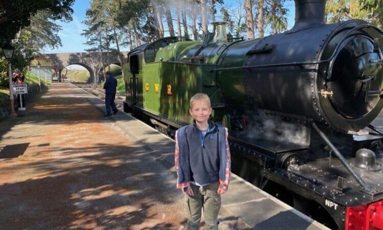 Josh Davies, who has been raising hundreds of pounds to help save the Llangollen Railway